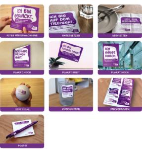 Kampagnenmaterial Psychische Gesundheit
